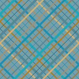Безшовная картина madras пересекающаяся линия Раскосная безшовная текстура как шотландка тартана в различных бежевых голубых цвет иллюстрация вектора