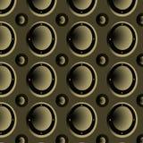 Безшовная картина, metal объемистые круги иллюстрация вектора