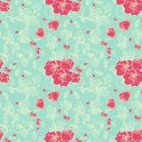 Безшовная картина Rose Стоковое Изображение RF