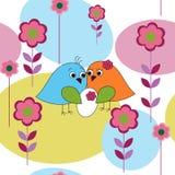 Безшовная карточка с newborn иллюстрация вектора