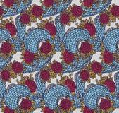 Безшовная китайская текстура дракона Стоковое Изображение