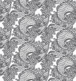 Безшовная китайская текстура дракона Стоковая Фотография RF