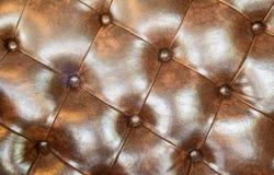 Безшовная коричневая кожаная текстура Стоковая Фотография