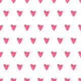 Безшовная красная картина сердца Стоковое Фото