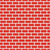 Безшовная красная кирпичная стена, белый шарик Непрерывная репликация картины текстуры также вектор иллюстрации притяжки corel бесплатная иллюстрация