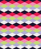 Безшовная красочная декоративная предпосылка с геометрическими формами иллюстрация вектора