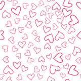 Безшовная красочная картина сердец Стоковые Изображения