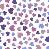 Безшовная красочная картина сердец Стоковая Фотография