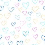 Безшовная красочная картина сердец Стоковые Фото