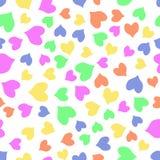 Безшовная красочная картина сердец Стоковое Фото