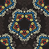 Безшовная красочная предпосылка сделанная экзотической картины иллюстрация штока