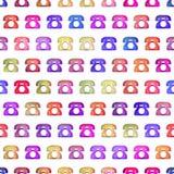 Безшовная красочная текстура телефона Стоковые Изображения