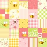 Безшовная милая пчела Стоковые Фото