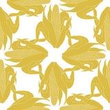 Безшовная мозоль золота картины в ударе с листьями вектор Стоковая Фотография RF