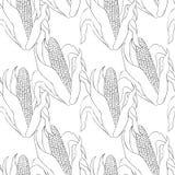 Безшовная мозоль расцветки картины в ударе с вектором листьев Стоковое Фото