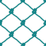 Безшовная морская картина узла веревочки Стоковое Фото