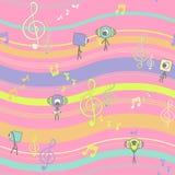 Безшовная музыкальная картина вектора Стоковое фото RF