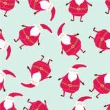 Безшовная нарисованная вручную картина рождества Printable шаблоны Стоковое Изображение