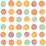 Безшовная нарисованная вручную картина цветка иллюстрация вектора