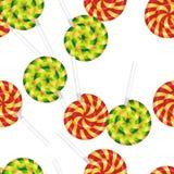 Безшовная нашивка конфеты картины Стоковое фото RF