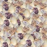 Безшовная непрерывная предпосылка с seashells Стоковые Изображения RF