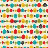 Безшовная овальная картина яичек пятен Идея для печати ткани, обоев или другой предпосылки Стоковые Фотографии RF