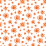 Безшовная оранжевая картина цветков бесплатная иллюстрация