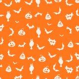 Безшовная оранжевая предпосылка хеллоуина - иллюстрация Стоковое Изображение RF