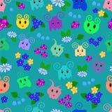 Безшовная орнаментальная картина для детей Стоковое Фото