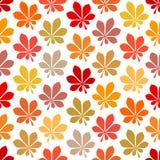 Безшовная осень картины листает желтый апельсин Брауна красный иллюстрация штока