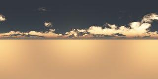 Безшовный заход солнца панорамы 360 неб бесплатная иллюстрация
