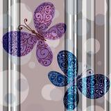 Безшовная пастельная striped картина Стоковое Изображение RF