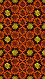 Безшовная переплетенная картина цветков Стоковое Изображение