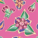 Безшовная пестротканая картина ярких цветов иллюстрация штока