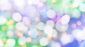 Безшовная петля - красочное голубое и зеленое bokeh праздника освещает предпосылку видеоматериал