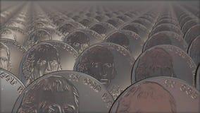 Безшовная петля стогов монеток бесплатная иллюстрация