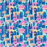 Безшовная печать картины ткани Выразительное моды ультрамодное иллюстрация вектора