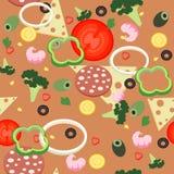 Безшовная пицца картины Стоковые Изображения RF
