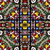Безшовная плитка квадрата цветного стекла иллюстрация штока