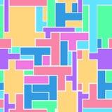 Безшовная повторяя предпосылка от разнообразие прямоугольного shap Стоковые Изображения