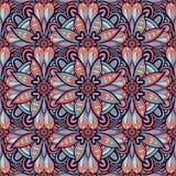 Безшовная покрашенная картина с цветками Стоковое Фото