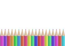 безшовная покрашенная строка карандашей Стоковое Изображение