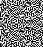 Безшовная полигональная черно-белая Striped картина абстрактная предпосылка геометрическая Стоковое Изображение