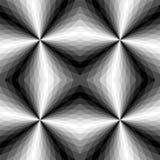 Безшовная полигональная Monochrome картина абстрактная предпосылка геометрическая Соответствующий для ткани, ткани и упаковки Стоковые Изображения