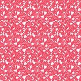 Безшовная предпосылка влюбленности, wedding цветочный узор с сердцами Стоковые Фото