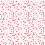 Безшовная предпосылка влюбленности, wedding цветочный узор с сердцами Стоковое фото RF