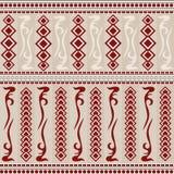 Безшовная предпосылка в винтажном стиле с ярким орнаментом иллюстрация штока