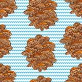 Безшовная предпосылка грибов Стоковые Фотографии RF