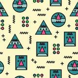 Безшовная предпосылка картины стороны Мемфиса геометрическая абстрактная странная стоковые фото
