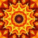 Безшовная предпосылка конспекта огня с похожей на Акварель текстурой Стоковые Фотографии RF